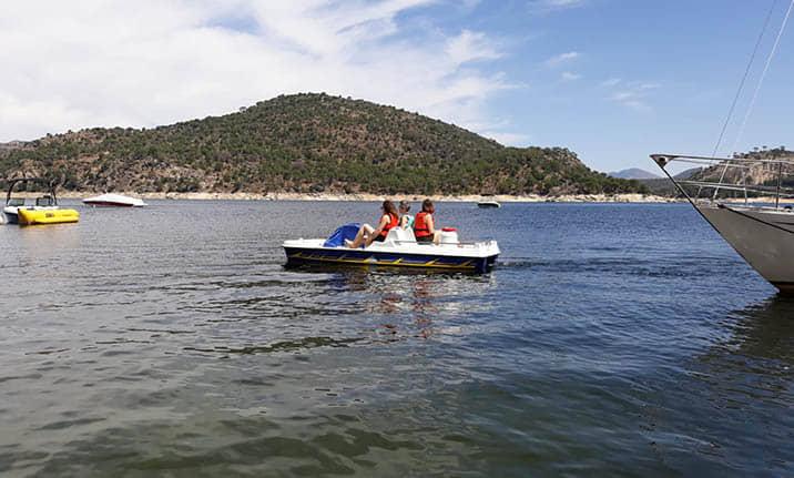 Curso de formación, hidropedal acuático en el pantano de san Juan