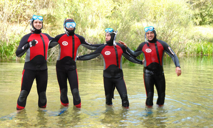 Actividad para amigos, snorkel en el Alto Tajo