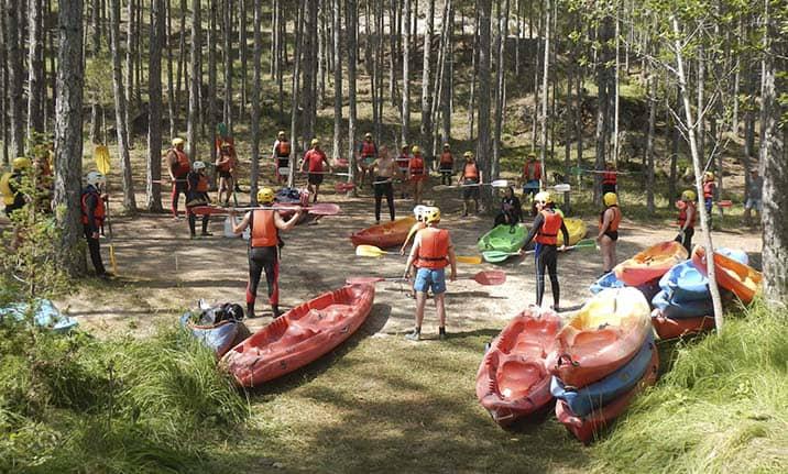 Curso de formación, iniciación aguas bravas en el Alto Tajo
