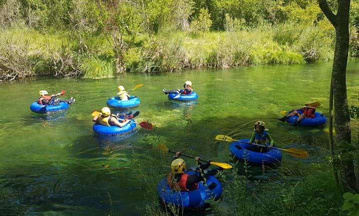 Curso de formación, river tubing en el Alto Tajo