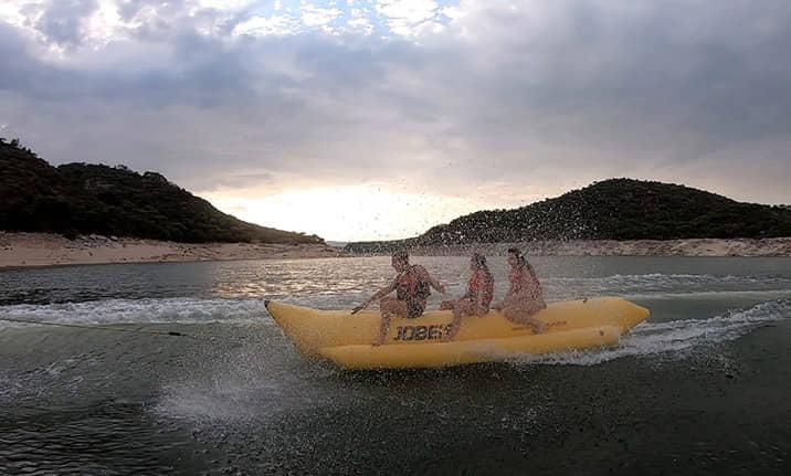 Curso de formación, banana acuática en el pantano de san Juan