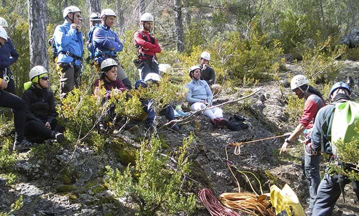 Curso de formación, iniciación barrancos en el Alto Tajo