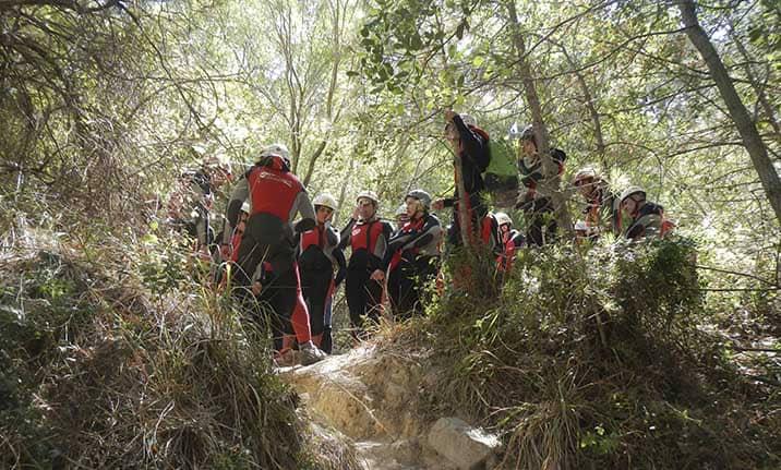 Curso de formación, iniciación barrancos en la sierra de Cuenca