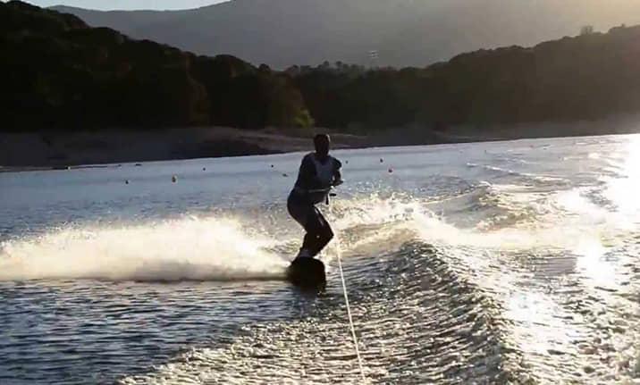 Curso de formación, wake boarding en el pantano de san Juan