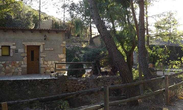 Entorno natural del albergue en la sierra norte de Guadalajara