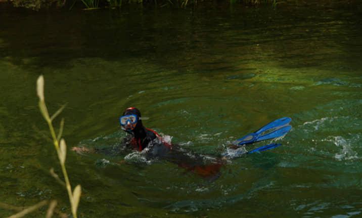Equipamiento completo para snorkel en el Alto Tajo