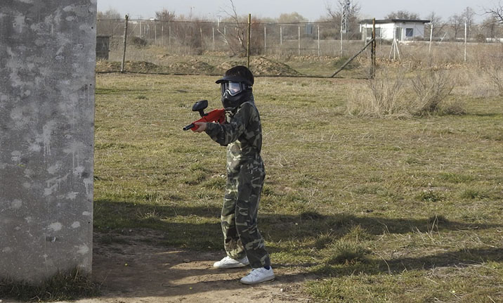 Equipamiento completo para paintball infantil en Madrid