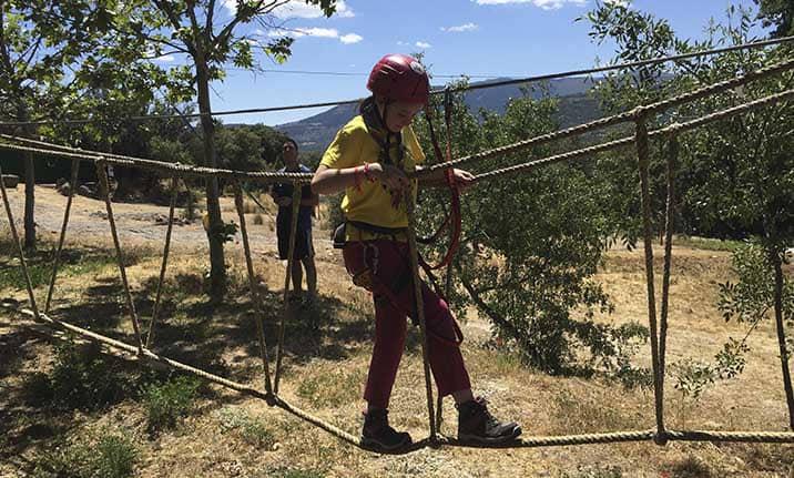 Equipamiento parque aventura en Madrid,Asdon Aventura