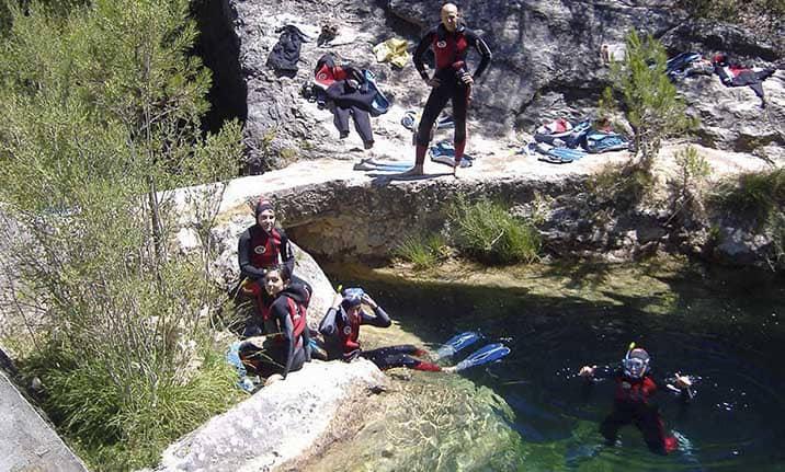 Snorkel en el Alto Tajo, actividad en familia
