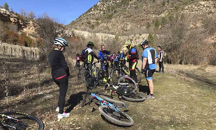 Curso de formación, ruta BTT en la sierra de Cuenca
