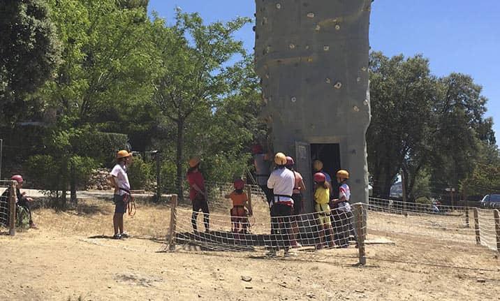 Actividad para grupos en Madrid, parque aventura