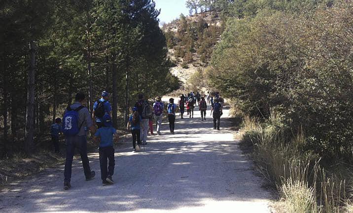 Actividad para grupos, senderismo en la serranía de Cuenca