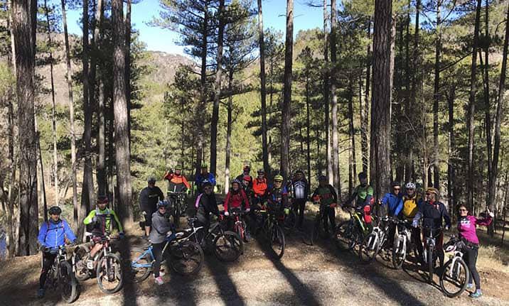 Actividad para grupos, ruta BTT en la sierra de Cuenca