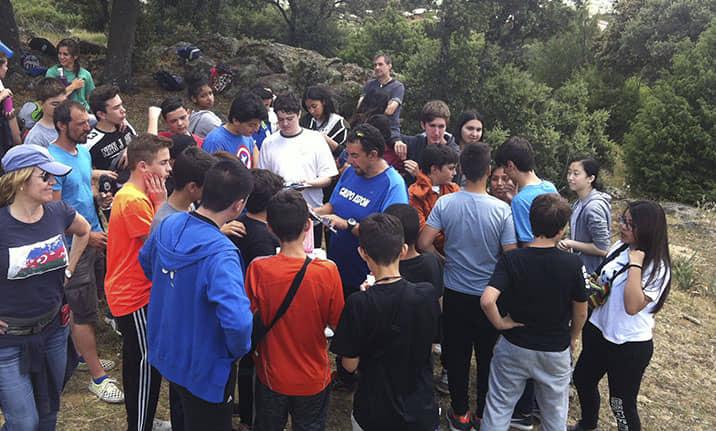 Actividad para grupos, geocaching en la sierra de Madrid