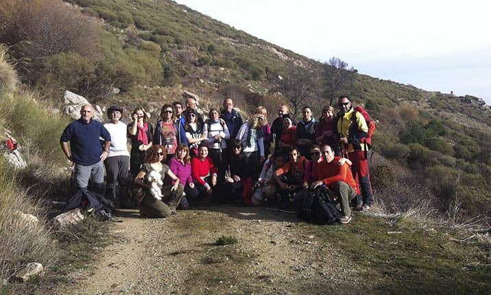 Actividad para grupos, senderismo en la sierra de Madrid