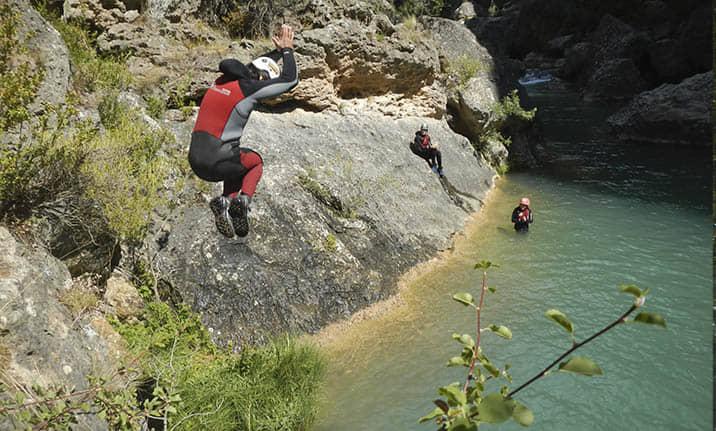 Barrancos de iniciación, descenso barrancos en Cuenca