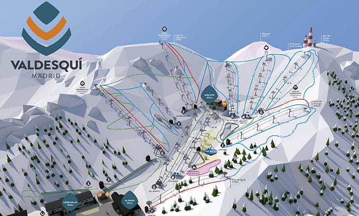 Mapa de pistas de la estación de Valdesquí